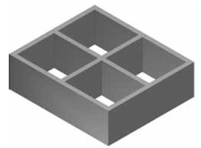 Atrea DPK 370x430 Distance pro rozdělovací komory R132420