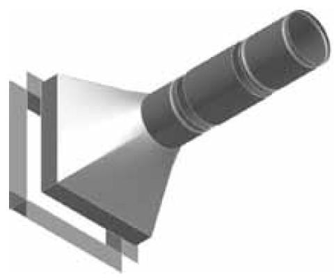 Atrea Fasádní tvarovka pro sání a výfuk odpadního vzduchu - přechod fasád S-VPF
