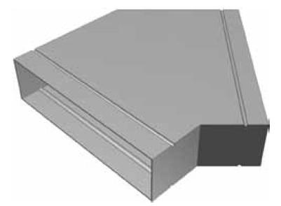 Atrea KSU Kanálová spojka úhlová 160 x 40 – 45°  R120340