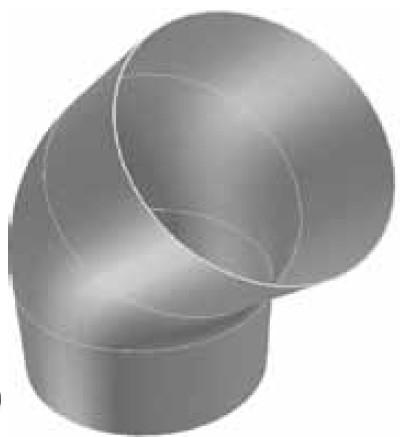 Atrea Koleno OS-T 45 stupňů těsné