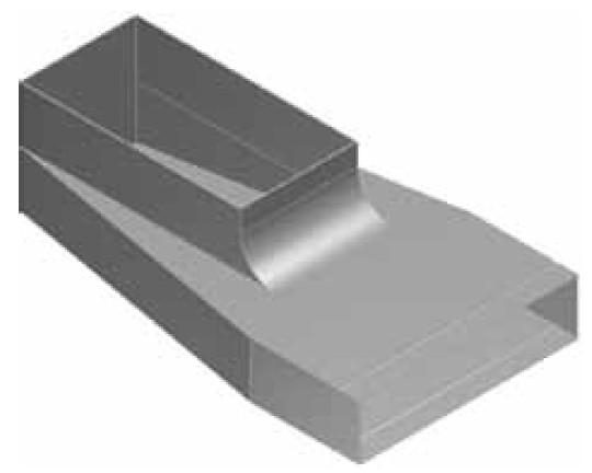 Atrea KKB Krabice koncová boční rozvodu 200x50 s otvorem pro podlahovou mřížku 255x100 R130021