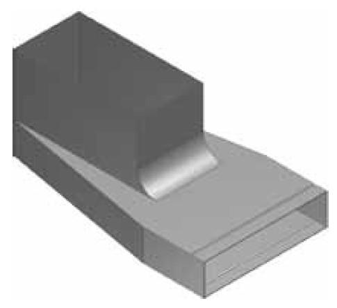 Atrea KKB-Z Krabice koncová boční - zvýšená rozvodu 200x50 s otvorem pro podlahovou mřížku 255x100 R130022