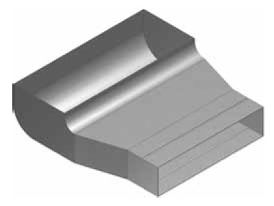 Atrea KKC Krabice koncová čelní rozvodu 160x40 s otvorem pro podlahovou mřížku 255x100 R130411