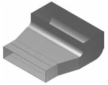 Atrea KKC-Z Krabice koncová čelní - zvýšená rozvodu 160x40 s otvorem pro podlahovou mřížku 255x100 R130412