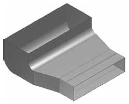 Atrea KKC-Z Krabice koncová čelní - zvýšená rozvodu 200x50 s otvorem pro podlahovou mřížku 255x100 R130012