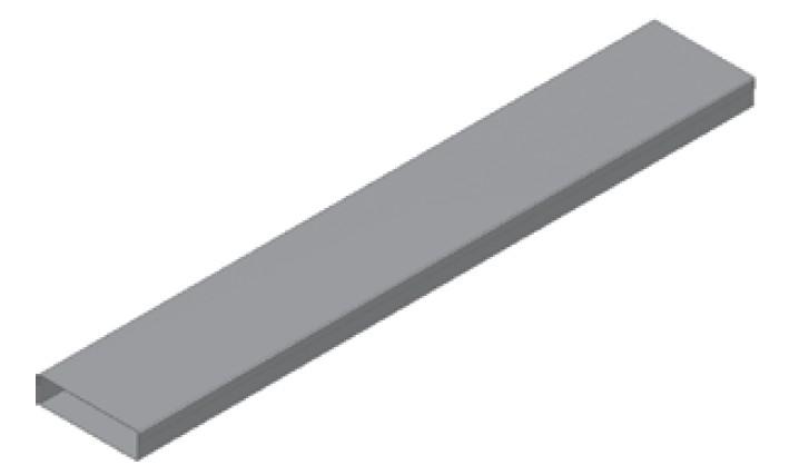 Atrea Podlahový kanál PKP 200x50 pozinkovaný typ A-tl.víka 0,6mm, délka 2bm R120011