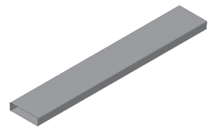 Atrea Podlahový kanál pozinkovaný PKP 200x50 typ B-tl.víka 1mm, délka 2bm R120012