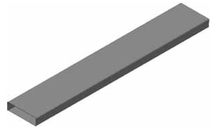 Atrea PKP 160 x 40 Podlahový kanál pozinkový typ B - tl. víka 1mm, délka = 2bm R120042