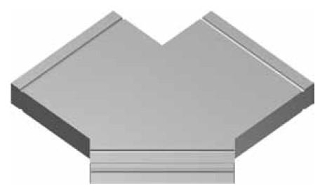 Atrea PKR Podlahový kanál rozbočka symetrická 200 x 50 2 x 45° R120403
