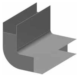 Atrea PPK Podlahový přechod 200 x 50 / 90° obloukový R121500