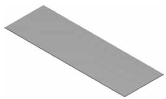 Atrea PPP 50 x 195 Podložný plech pod podlahové kanály 50 x 195 pozink tl. 0,6mm R120901