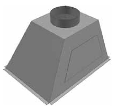 Atrea PKJ Přechod komora 628 x 476 ø 200 (levý) pro rozdělovací komoru RKJ 628x476 R146021