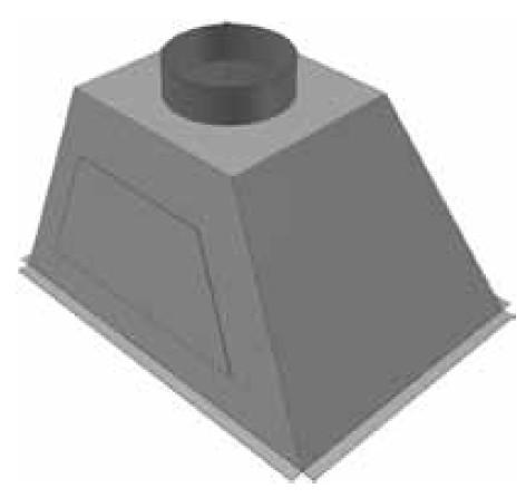 Atrea PKJ Přechod komora 628 x 476 ø 160 (pravý) pro rozdělovací komoru RKJ 628x476 R146016