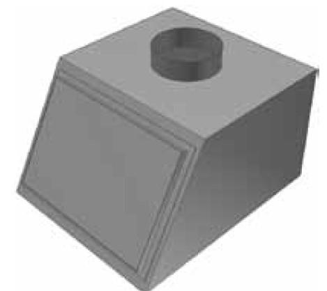 Atrea PKJ Přechod komora 420 x 476 ø 160 pro rozdělovací komoru RKJ 420x476 R146516