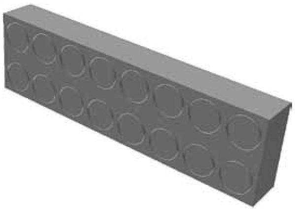 Atrea RVP 20 x 42 x 157 Regulační vložka potrubí 160x40 tl.20mm sloužící pro regulaci podlahových rozvodů 160x40 R120501