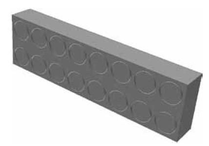 Atrea RVP 20 x 52 x 197 Regulační vložka potrubí 200 x 50 tl. 20mm sloužící pro regulaci podlahových rozvodů 20 x 50 R120500