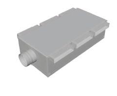 Atrea RKP–D ø 125 Podstropní rozdělovací komora krátká neizolovaná 8 x 160 x 40