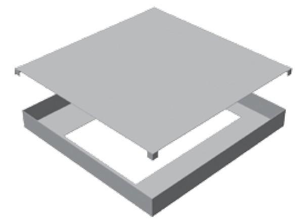 Atrea RKD 260 Rozdělovací komora 460x460 s dolním připojením pro cirkulační přechodovou komoru CPK 260 R112512