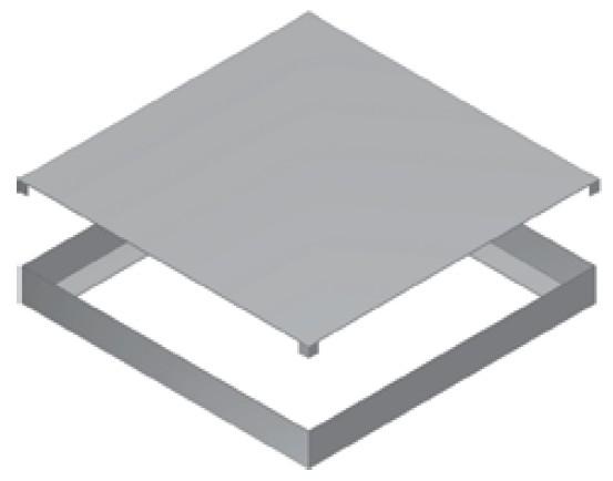 Atrea RKD 375 Rozdělovací komora 460x460 s dolním připojením pro cirkulační přechodovou komoru CPK 375 R112511