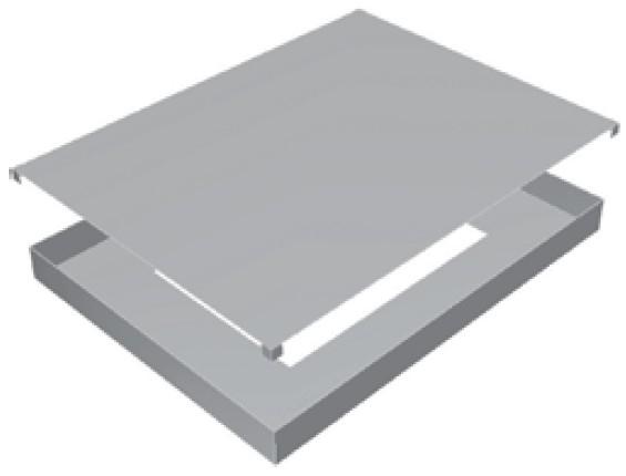 Atrea RKD 260 Rozdělovací komora 610x460 s dolním připojením pro cirkulační přechodovou komoru CPK 260 R112012