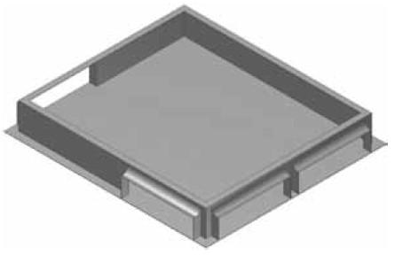 Atrea RKJ Rozdělovací komora 420 x 476 pod jednotku nebo PKJ 420x476 R111511